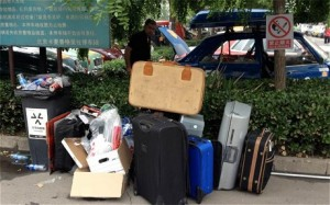 suitcases left in Beijing
