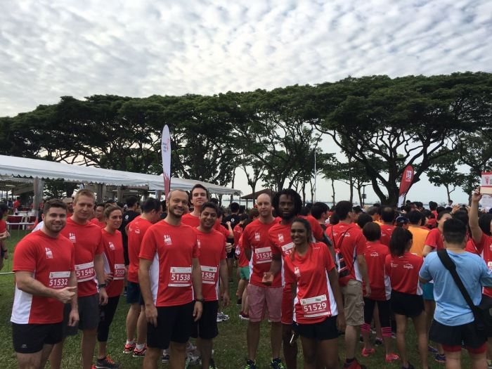 Pacific Prime Singapore Race Against Cancer team