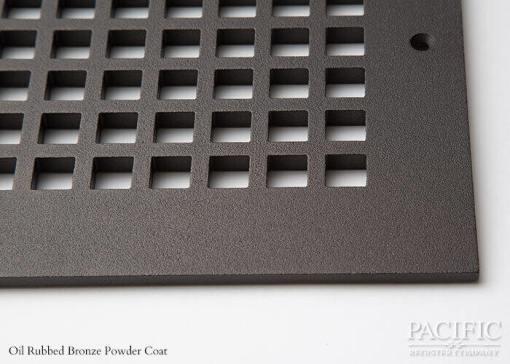 Cast Aluminum Vent Covers Square Pattern bronze CU