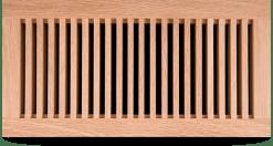 wood register flush mount floor