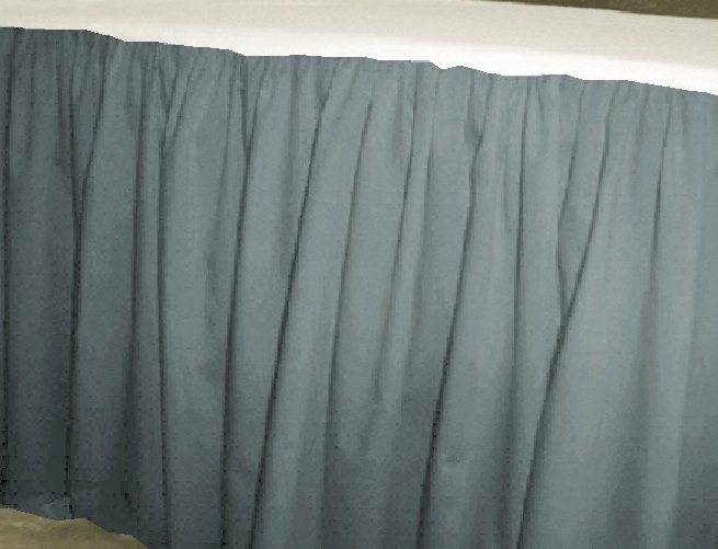 Solid Wedgewood Blue Colored Bedskirt In All Sizes From