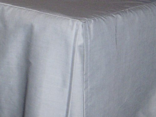 Light Silver Gray Tailored Bedskirt For Cribs And Daybeds