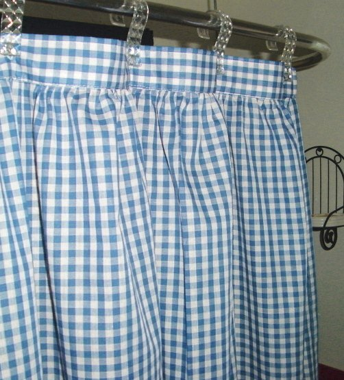 ds094285blue blue gingham check shower curtain