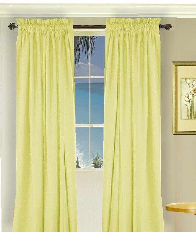 Yellow And White Shower Curtain