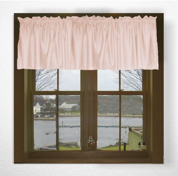 Solid Nude Blush Pink Color Valance In Many Lengths Custom Size