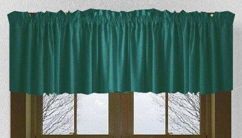 Solid Teal Color Valance In Many Lengths Custom Size