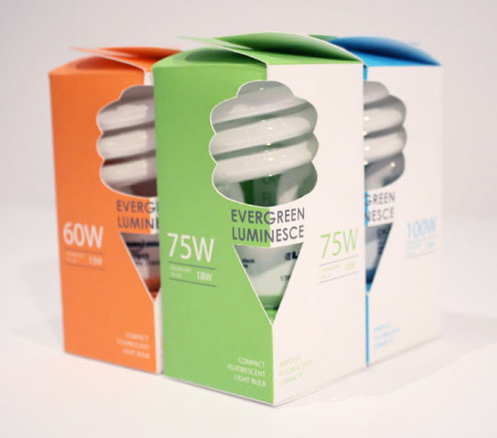Packaging CFL Lights Bulbs Daily Package Design
