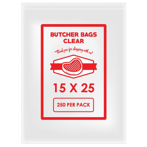 BUTCHER BAG 15 X 25 20MIC X 250