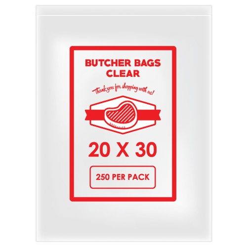 BUTCHER BAG 20 X 30 20MIC X 250