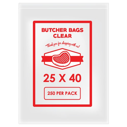 BUTCHER BAG 25 X 40 20MIC X 2000