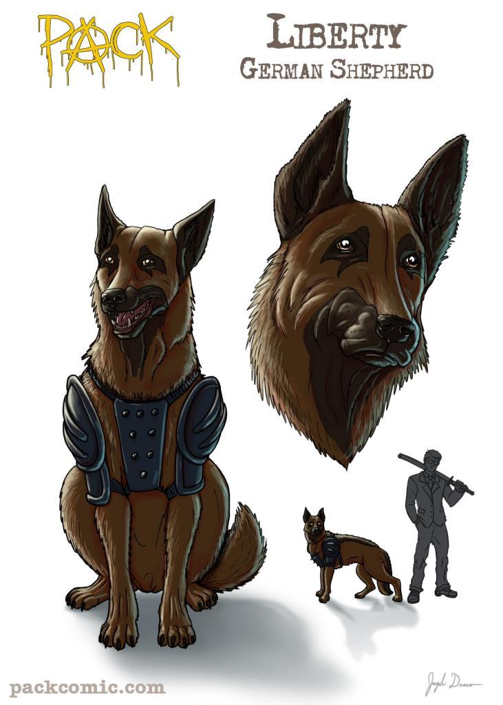 Bio Pic of Liberty, the German Shepherd