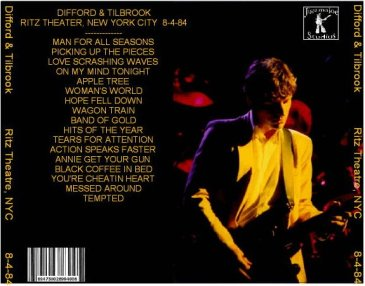 1984 August 04 Difford and Tilbrook Live at THe Ritz