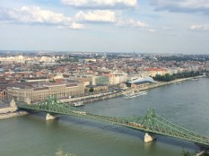 The view of the Liberty Bridge from the Citadella