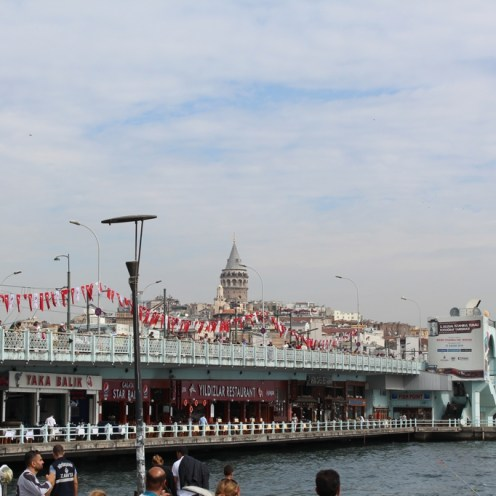 The Galata Bridge and the Galata Tower
