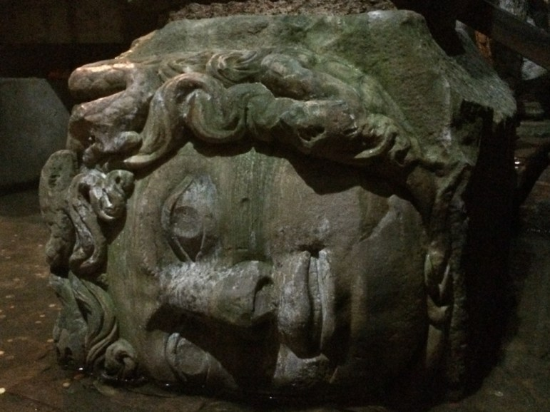 The Medusa head, Istanbul, by Packing my Suitcase.