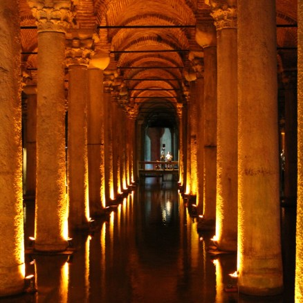 Basilica Cistern, Istanbul, by Packing my Suitcase.