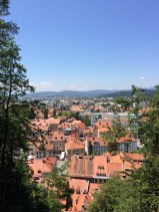 The view from the Ljubljana Castle