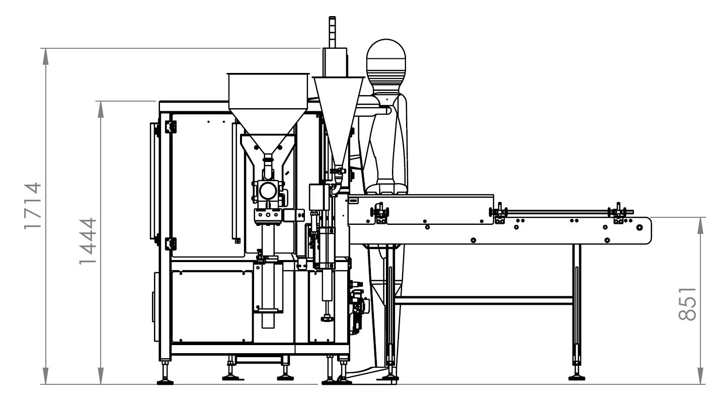 Filling Machine For Bottle Or Glass Jar Developed For