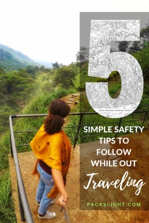 5 Simple Ways to Stay Safe Pin | Packs Light