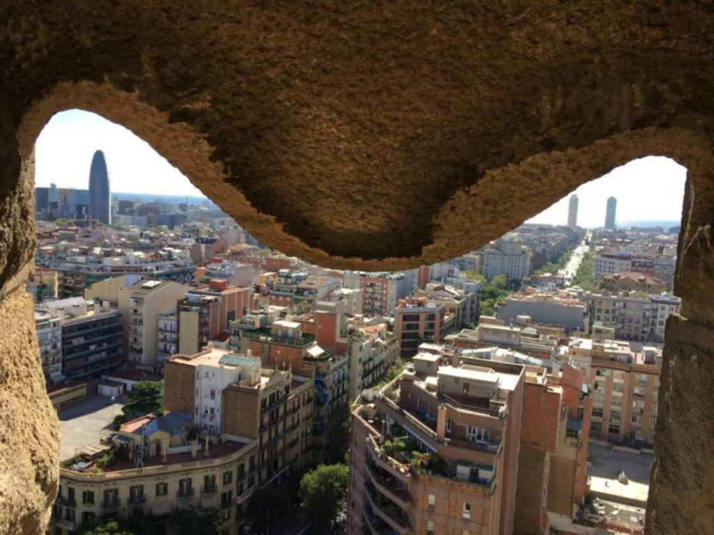 MOTM Jessica - Vegetarian Travel - Barcelona from the Sagrada Familia