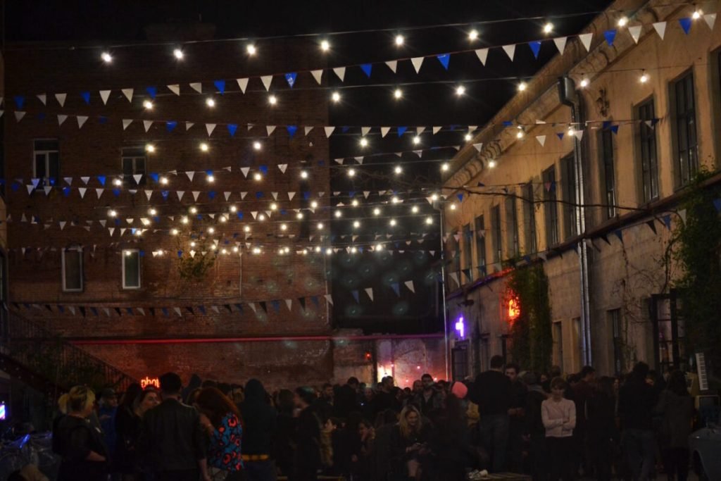 Outside Community Space 5- Fabrika Hostel Tbilisi   Packs Light