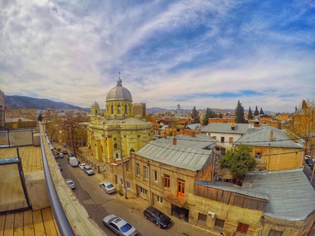 View from Suite Terrace - Fabrika Hostel Tbilisi | Packs Light