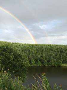 We had rainbows leaving Normandy and double rainbows arriving in Belgium.
