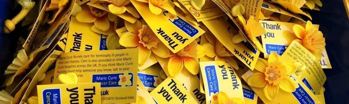 Fundraising for Marie Curie, Hitchin, Hertfordshire, 4 March 2017