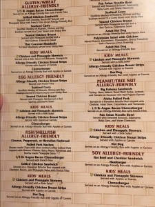 Capt. Cooks Allergy Menu Disney Gluten
