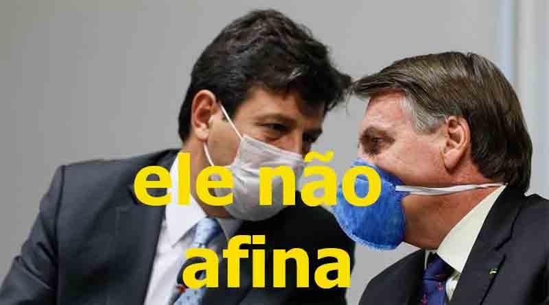 Mandetta não afina para Bolsonaro