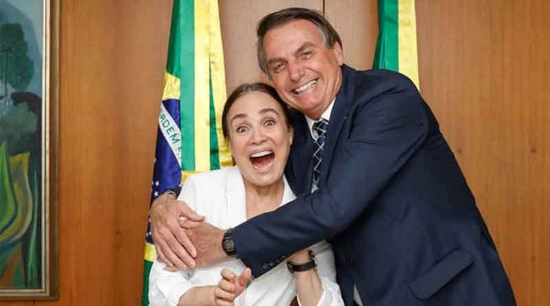 """""""Eu jamais iria fritar você"""", disse Bolsonaro agora a ex-Secretária de Cultura, Regina Duarte"""