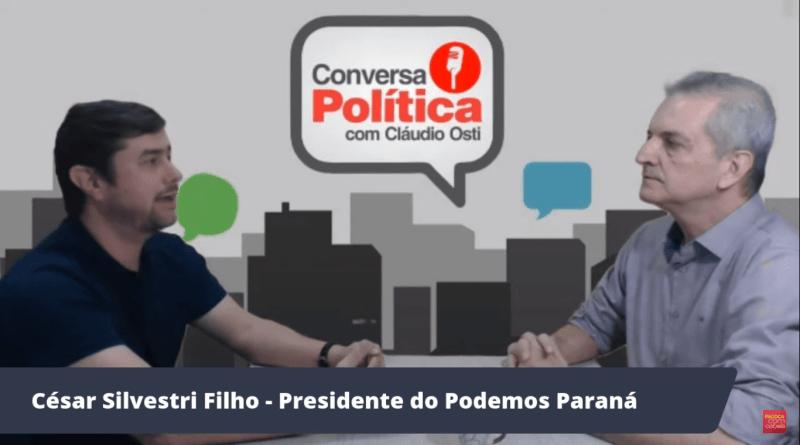 Ao vivo, presidente do Podemos do Paraná diz se o partido concorrerá ao Governo contra Ratinho Jr