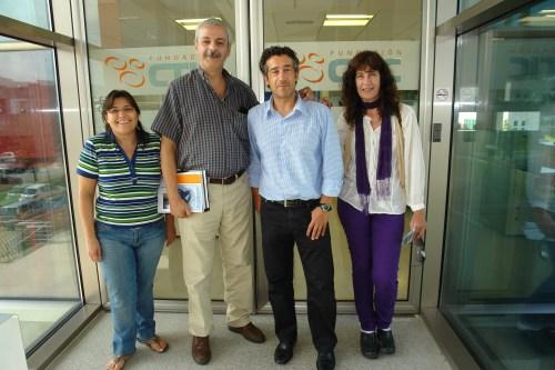 Carmen Gómez / Daniel Betancour de Factor S y Luisa Paz / Paco Prieto de Fundación CTIC