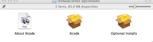 Instalaciones Opcionales OSX 10.6