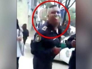 Policía escupe en la cara a una mujer, en la Narvarte #VIDEO