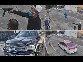 Con un arma de alto poder, sujetos asaltan a conductor en calles de Tlalnepantla