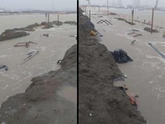 """Instituto de Protección Civil de """"Dos Bocas"""" niega inundación en la zona de la construcción"""