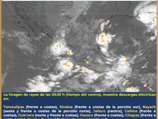 Un canal de baja presión interaccionará con nubosidades de Sally, generando lluvias en distintos puntos del país