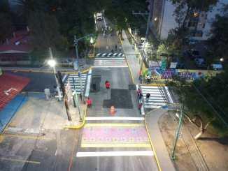 Entregan nuevo sendero seguro en la Avenida San Lorenzo de Iztapalapa