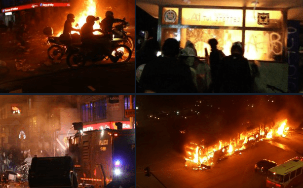 ¡Bogotá bajo fuego! Van varios muertos tras violentos disturbios por el caso de brutalidad policial contra un abogado