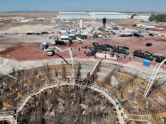 """Así avanza la construcción del Aeropuerto """"Felipe Ángeles"""" en Santa Lucía #VIDEO"""