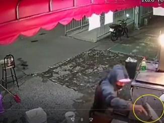 A punta de subametralladora, así asaltaron una taquería en Iztapalapa #VIDEO