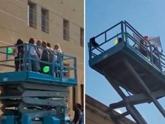Mujeres rentan grúa para poder ver a su amiga con cáncer en el hospital #VIDEO