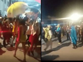 ¡Hasta con policías presentes! Celebran carnaval en San Salvador Atenco #VIDEO