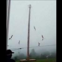 Volador de Papantla sale disparado desde 20 metros de altura en Hidalgo #VIDEO