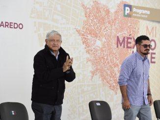 López Obrador supervisa obras de mejoramiento urbano en Nuevo Laredo