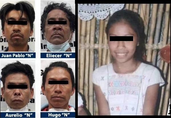 Detienen a cuatro sujetos implicados en la muerte de la pequeña Ayelín, en Guerrero