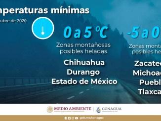 El SMN pronostica lluvias muy fuertes para Campeche, Chiapas, Oaxaca y Tabasco