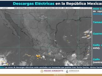 El SMN pronostica lluvias fuertes en nueve entidades de México