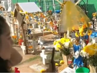 En panteón de Ecatepec se adelantan a cierre y arman baile entre tumbas #VIDEO